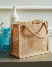 Shimmer Jute Mini Gift Bag